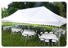 Tent, Table, Chairs