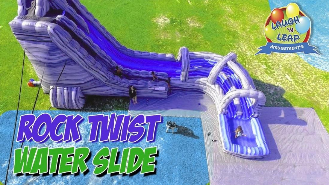 Two-Story Rock Twist Water Slide