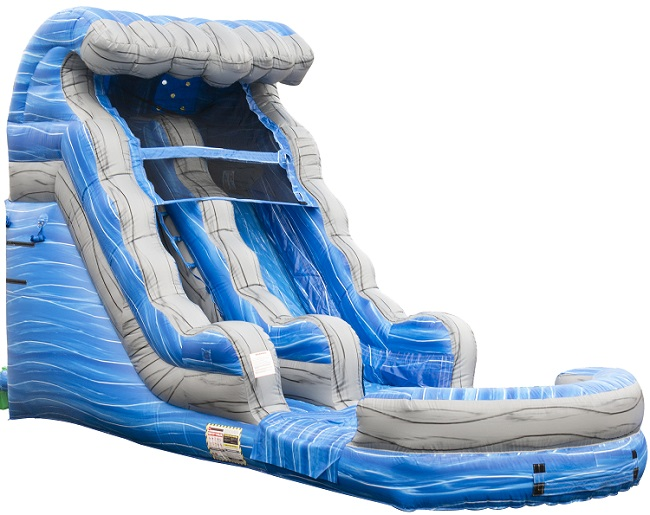 Junior Splash Water Slide - 15 feet tall w/pool
