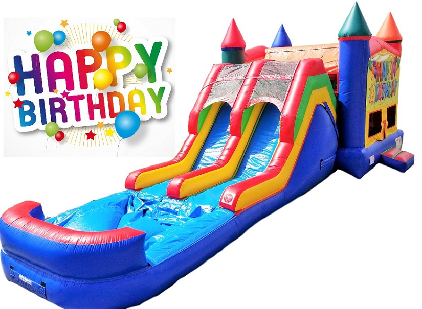 Happy Birthday Bounce & Double Slide Combo