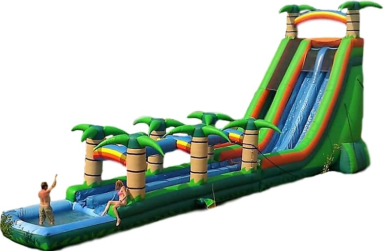 Island Tropics Water Slide - 30ft tall, 70 ft long