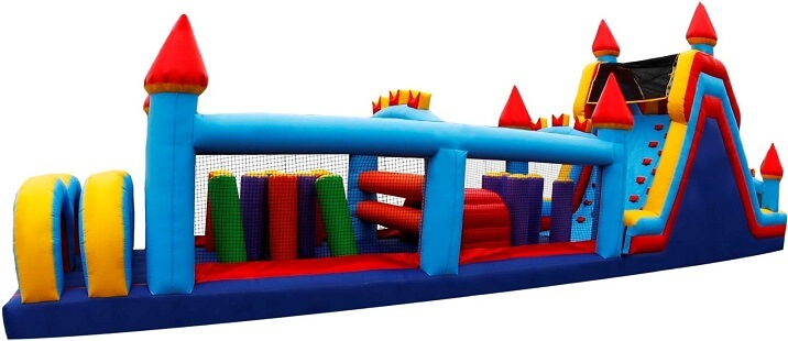 Big Colorful Inflatable Obstacle Course