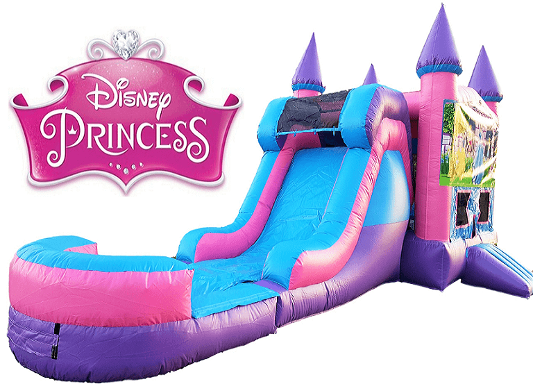 Princess Bounce House & Water Slide Combo