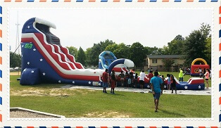 American Dream Water Slide with Slip n Slide extension