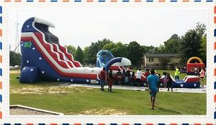 American Dream Water Slide with Slip n Slide extension