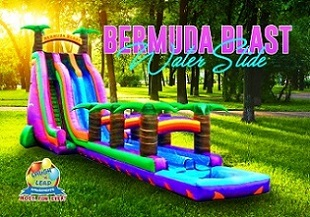 Bermuda Blast Dual Lane Water Slide - 30 ft Tall & 70 ft Long