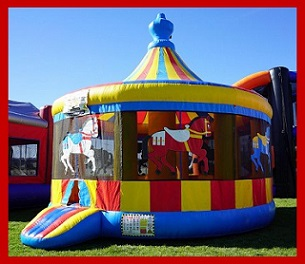 Giant Carousel Bounce House