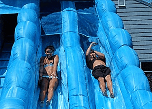 Monster Wave Water Slide - Double Lanes w/Pool