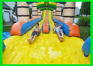 Luau Double Lane Water Slide - 25 feet tall