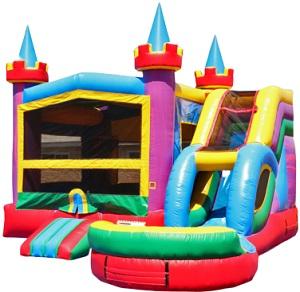 Lucky Bounce House & Slide Combo w/Pool