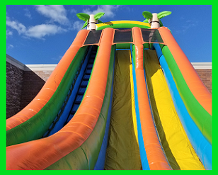 Luau Double Lane Dry Slide - 25 feet tall