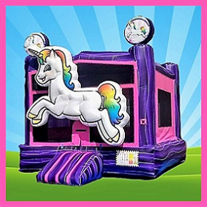 Unicorn 3D Bounce House