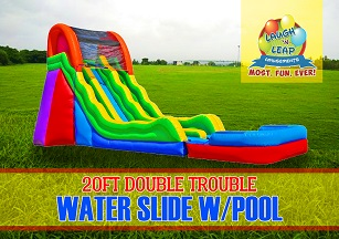 Double Trouble Water Slide - 20ft Tall Dual Lane Water Slide