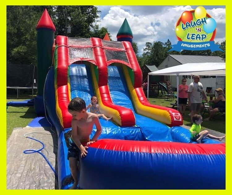 Inflatable Everest Slide: Paw Patrol Bounce House Water Slide Combo