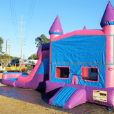 Pink & Purple Bounce House Water Slide Inflatable