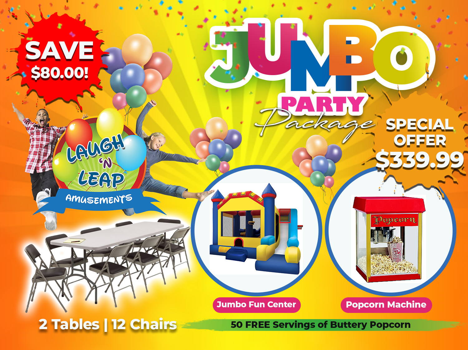 Jumbo Party Package