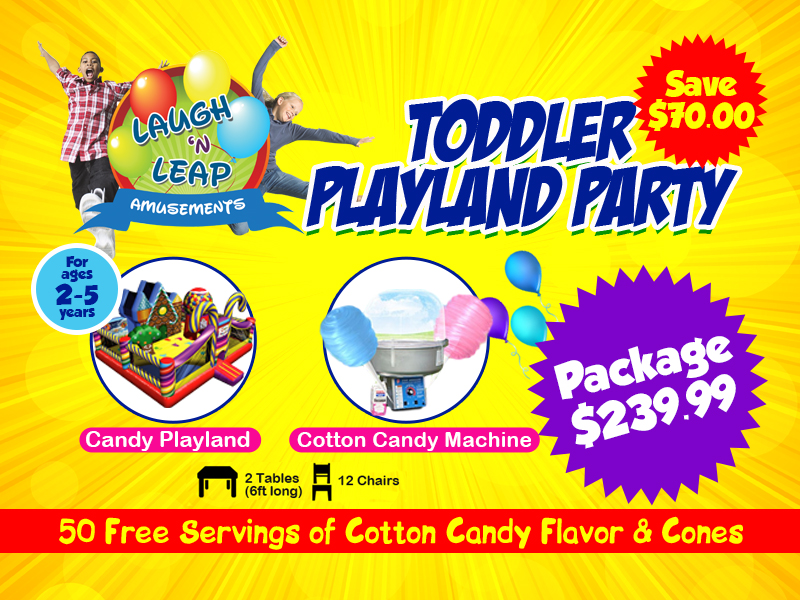 Toddler Playland Party Package